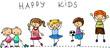 Установить счастливых детей