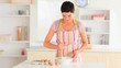 Cute woman baking