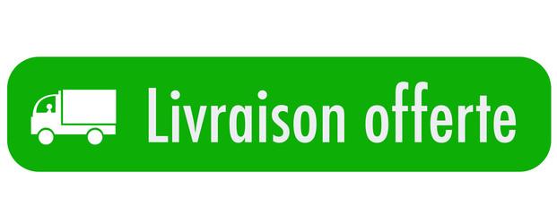 bouton - livraison offerte - vert