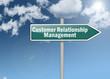 "Signpost ""Customer Relationship Management"""