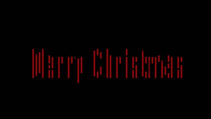"Old Fashoned Billboard""Merry Chrismas red "" incl Alpha"