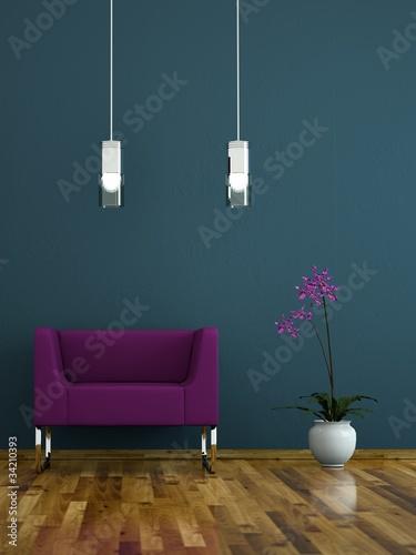 Wohndesign - lila Sessel