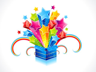 abstract colorful magic box with star