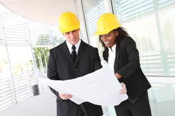 Diverse Business Construction Team