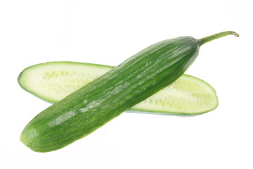 Halves of Lebanese Cucumber