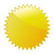 Werbeaufkleber gelb