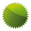 Werbeaufkleber grün