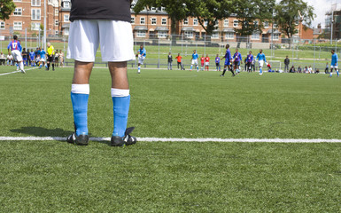 Soccer player legs