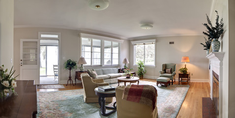wide panorama of livingroom