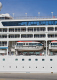 A part of cruise liner