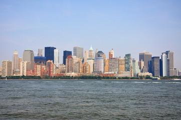 New York City skyline, Manhattan West side, USA