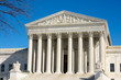 The front on the the US Supreme Court in Washington, DC.