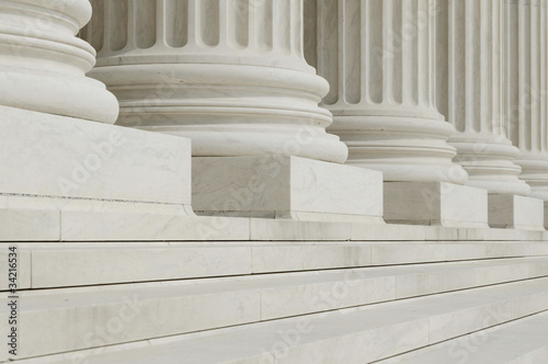 canvas print picture The row of classical columns with steps