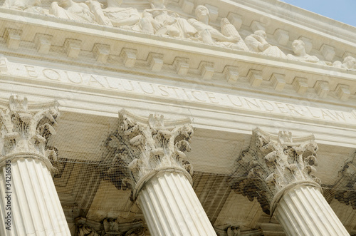 US supreme court portico detail