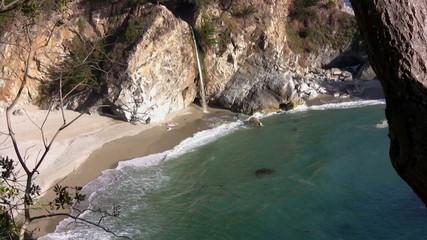 California Coasts Big Sur McWay Fall 04 Zoom In
