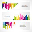 abstract modern website banner set vector design