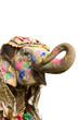 colorful elephant holi festival Jaipur India