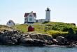 """Nubbles"" Lighthouse, Maine, USA"