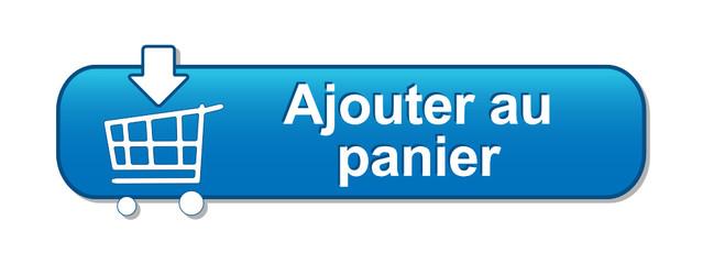 """Bouton Web """"AJOUTER AU PANIER"""" (commander acheter en ligne bleu)"""