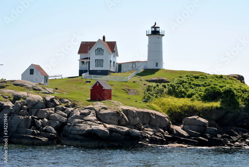 """Nubbles"" Lighthouse, Maine, USA"