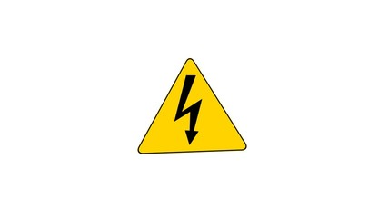 High Voltage Sign (Loop with Matte)