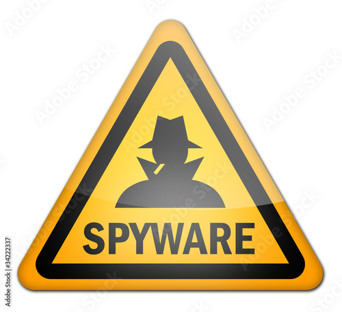 "Hazard Sign ""Spyware"""