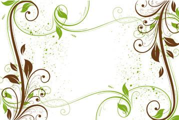cadre vert et marron