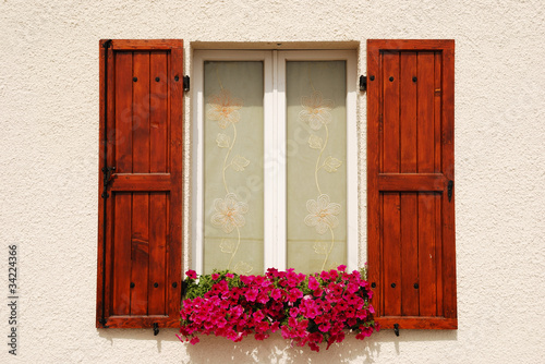Window adorned with flowers