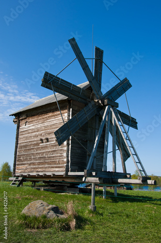 Windmill. Beautiful Kizhi island