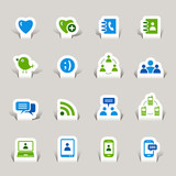 Papercut - Social media icons poster