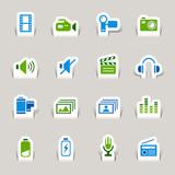 Papercut - Media Icons poster