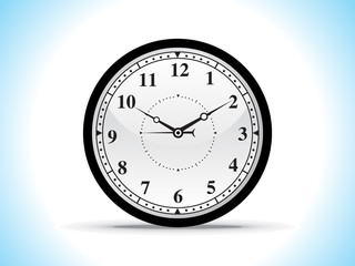 abstract black clock