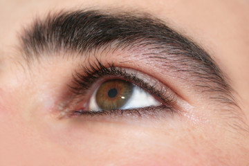 Exotic Eye shot of a young male