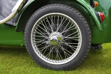 Wheel of classic car
