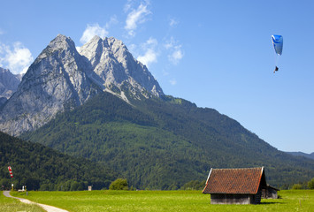 view over the zugspitze