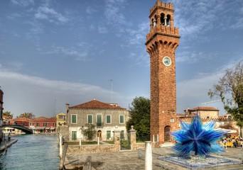 San Stefano Square, Murano Island, Italy.