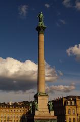 Castle square and anniversary column in Stuttgart