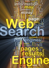 Search engine background concept glowing