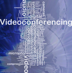Videoconferencing background concept