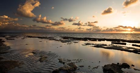 Dramatic sunrise over Atlantic Ocean off Florida coast, by Miami