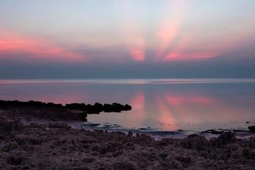 Early morning rays off Florida coast, near Miami
