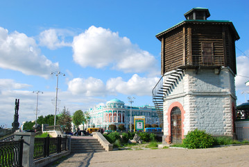historical part of Yekaterinburg, Russia