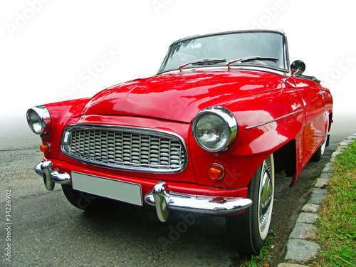 red veteran cabrio oldtimer