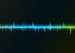 Sound wave blue green