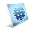 Solar panel with sun.Vector illustration.