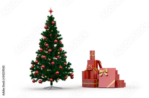 weihnachtsbaum mit geschenken von f schmidt lizenzfreies. Black Bedroom Furniture Sets. Home Design Ideas