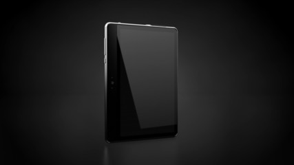 Blank Tablet in motion