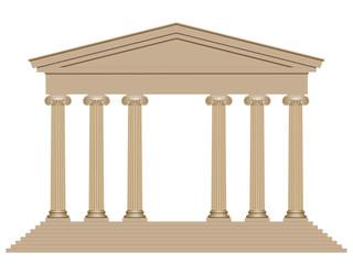 Façade d'un temple ionique