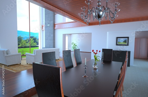 Contemporary Loft Dining Room