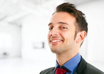 Confident smiling businessman